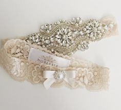 46 Wedding Garter Ideas For Fashion-Forward Brides Garter Belt Wedding, Bride Garter, Lace Garter, Rustic Wedding Dresses, Trendy Wedding, Wedding Ideas, Dream Wedding, Wedding Trends, Spring Wedding