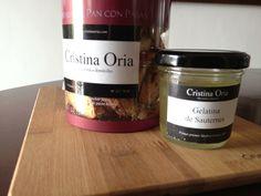 Pan con pasas y gelatina de Sauternes del catering de Cristina Oria