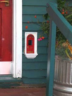 Fairy door, can put in hall outside girls' rooms, can decorate with seasons (wreath at Christmas etc), make it pink