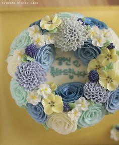 veranda studio butter cream flower cake. : 네이버 블로그