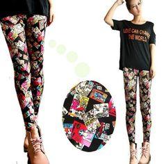 Aliexpress.com : Buy Wholesales 2013 Autumn and Winter Women Fashion Vintage Print Skinny Tights Pants/Leggings on Fujian Tilly  Ling Co., LTD.. $36.99