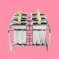 Lag hjemmelagd is med ispinneformer i rustfritt stål - BeeOrganic Popcorn Maker, Kitchen Appliances, Bamboo, Diy Kitchen Appliances, Home Appliances, Kitchen Gadgets
