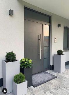 How to upgrade the entrance of your house and increase the attractiveness of the curb The . How to upgrade the entrance of your house and increase the attractiveness of the curb Das ., You are in the right place a Modern Entrance Door, Home Entrance Decor, House Entrance, Entrance Doors, Front Doors, Home Interior Design, Exterior Design, Interior Plants, House Front