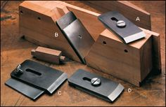 """Hock Krenov-Style Plane Blades with Chip Breakers - Woodworking. Another 1-1/2"""" or 2"""" blade would be nice."""