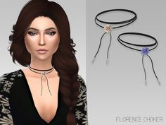 The Sims Resource: Florence Choker by GrafitySims • Sims 4 Downloads