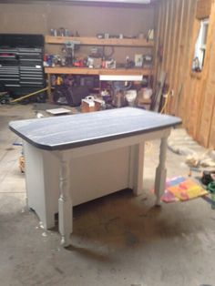 Kitchen island from old buffet.