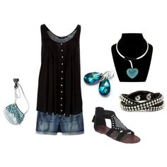"""""""Summer Set with Crystal Blue - Plus Size"""" by intcon on Polyvore"""