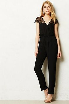Georgette Embroidered Jumpsuit #anthropologie