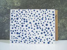 Connecting Dots  Letterpress Greeting Card by pepperpressny, $5.50