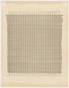 Ink on paper. 10 x x 28 cm). The Riklis Collection of McCrory Corporation. © 2016 Estate of Agnes Martin / Artists Rights Society (ARS), New York. Drawings and Prints Contemporary Abstract Art, Contemporary Artists, Agnes Martin, Textiles, Online Painting, Hanging Art, Art History, Art Gallery, Drawings