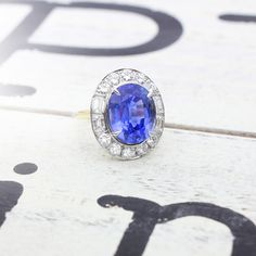What do you think of this 12.16 carat Ceylon Sapphire is set in a beautiful diamond halo setting!?   ##SmythJewelers