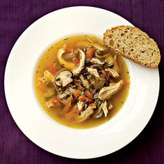Healthy Wild Rice and Mushroom Soup with Chicken Recipe