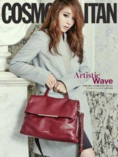 Gorgeous Min Jung in Cosmopolitan Korea   Vincis Bench bag