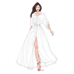 Strutting into Friday 💃🏻 Dress Design Drawing, Dress Design Sketches, Fashion Design Sketchbook, Dress Drawing, Fashion Design Drawings, Fashion Sketches, Drawing Sketches, Fashion Figure Drawing, Fashion Drawing Dresses