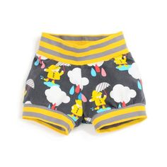 A perfect pattern for beginners, these cuff shorts will get tons of wear once in your little one's wardrobe. Super-easy construction, they're as comfortable as they are cute!    Instructions and full PDF pattern will be available in your account after purchase.