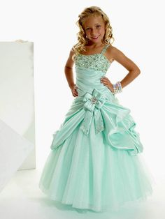 Draping Straps Ruched Flower Long Lovely Blue Girls Pageant Dresses comes in a lot of different colors