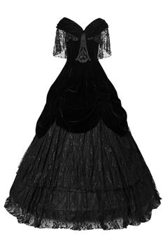 Lady de la Morte Gothic Prom Dress by Punk Rave | Ladies