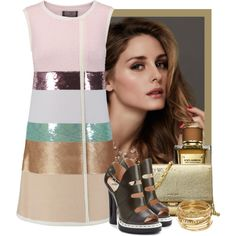 Olivia Palermo by flordemaria on Polyvore featuring moda, Giambattista Valli, Fendi, MICHAEL Michael Kors, ABS by Allen Schwartz, Dolce&Gabbana and Beauty Secrets