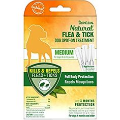 Full body repellent that effectively protects and defends against irritating fleas and ticks, for cats of all sizes. Kills & repels fleas and ticks for up to 3 months, and repels mosquitoes. Water resistant protection from fleas and ticks. Ticks On Dogs, Lemon Eucalyptus, Cedarwood Oil, Wild Bird Food, Flea And Tick, Insect Repellent, Medium Dogs, Active Ingredient
