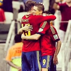 Sergio Ramos and Fernando Torres  Spain national football team