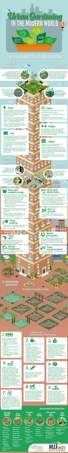 urban gardening what you need know grow your own green city tips tipsographic