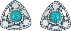Waama Jewels Multi Color Cubic Zirconia Silver Plated back Push Style for Women Cubic Zirconia Brass Stud Earring