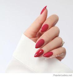 Classy stiletto red nails