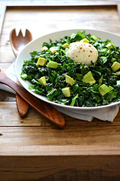 Meatless Monday: Kale and Spinach Chopped Salad with Avocado and Burrata via @sarcasticcook