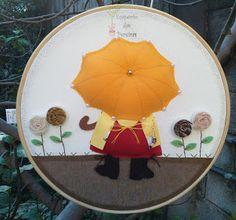 Empório das Pereiras: Quadro Sunbonnet Tree Skirts, Decorative Plates, Christmas Tree, Holiday Decor, Mousse, Blog, Home Decor, Instagram, Child Room