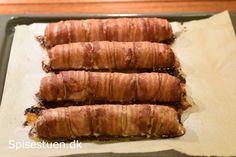 Porrer pakket ind i frikadellefars, og så er hele herligheden pakket ind i bacon. Det blev ret godt! :-) Jeg bruger en helt almindelig frikadellefars. Det er vigtigt, at farsen er lidt fast i det, … Food N, Good Food, Food And Drink, Yummy Food, Cooking Tips, Cooking Recipes, Beef Bacon, Danish Food, Pork Recipes