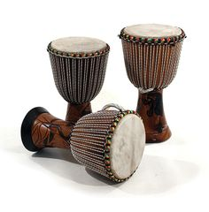 """RUVAAFRICWEAR...Full sized authentic African D'jembe Drum ( Approx. 23"""" tall with 13"""" head )"""