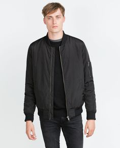 Image 2 of BOMBER JACKET WITH QUILTED LINING from Zara