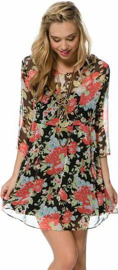 Volcom Rosebud Babydoll Dress. http://www.swell.com/New-Arrivals-Womens/VOLCOM-ROSEBUD-BABYDOLL-DRESS?cs=BL