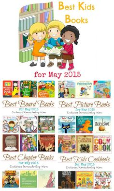 Why not add some really fun kid's storybooks to your lessons and reading fun? This great list of Best Kids Books For May 2015 is sure to have a book or two for any age to help find some storybook fun. These are some of my family's favorite and hopefully some new fun for yours too! Get your list today.