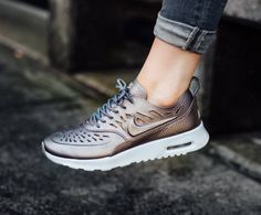 nouvelles chaussures de basket-ball Nike Shox - Nike Wmns Air Max Thea Joli (Metallic Pewter / Metallic Pewter ...