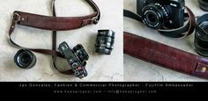 Personalized Leather Camera Strap for Fujifilm Ambassador and Fashion/Commercial Photographer, Jan Gonzales