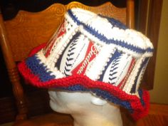 New Crocheted Budweiser MLB Beer Can Hat  by KatsCoolCreations, $13.99