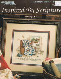 """Revelation 22:16  ~  Inspired By Scripture II""  -  Front cover of Paula Vaughan's counted cross stitch leaflet.  This leaflet contains two patterns:  Revelation 22:16 and Song Of Solomon 2:1."