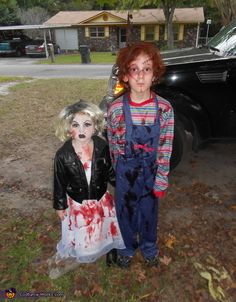 I nailed it chucky and bride of chucky halloween costumes for chucky and bride of chucky halloween costume contest at costume works solutioingenieria Choice Image