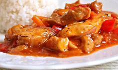 Recept podle Zdeňka Pohlreicha, ovšem pozměněný, šéf použil vepřové maso, my kousky kuřecí! Inspirace od Nadi Indruchové. Chicken Wings, Meat, Food, Essen, Yemek, Meals