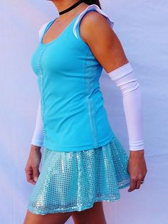 Cinderella complete running outfit by iGlowRunning on Etsy, $89.00. I don't really want to spend that kind of money, but this is just fabulous. Motivation to run the Disney marathon!!