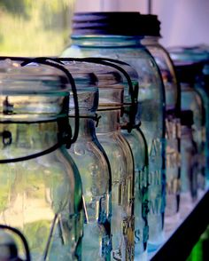 Love the colors! Glass Bottles IV by Oberazzi, via Flickr