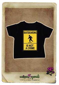 Skateboarding is Not a Crime Tee | MisoPunk