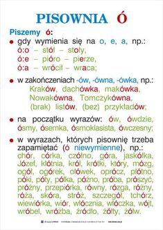 ortografia i gramatyka - kas. Polish To English, Learn Polish, Aa School, Polish Language, School Subjects, Learning Process, Teaching Activities, Study Notes, English Vocabulary