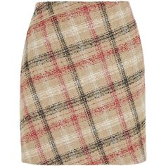 Carven Checked wool-blend mini skirt (1,095 GTQ) ❤ liked on Polyvore featuring skirts, mini skirts, multi, multi color skirt, short mini skirts, wool blend skirt, carven skirt and checkered skirt