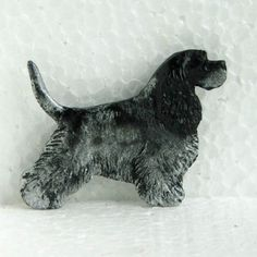 American-Cocker-Spaniel-with-Tail-B-W-Brooch-Dog-Breed-Jewellery-Handpainted