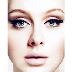 Adele Vogue Face ❤ liked on Polyvore featuring people, makeup, pictures, faces and models
