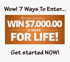 7000 Dollars a Week for Life Sweepstakes PCH - Bing images Instant Win Sweepstakes, Online Sweepstakes, Game Show Network, 10 Million Dollars, Win For Life, Publisher Clearing House, Winning Numbers, Instant Win Games, Fast Cash