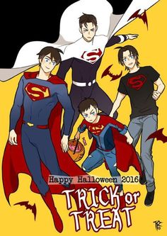 Bat Boys dressing up as different Super Boys. Batman shouldn't question this by now! Superman X Batman, Superman Family, Batman Robin, Batgirl, Batwoman, Nightwing, Marvel Dc Comics, Marvel Vs, Young Justice