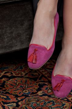 Emerson Fry (formerly Emerson Made) fuschia and red loafer flats--must buy! $228